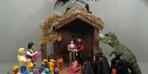 Tacky Nativity Scene: Holy Tryannosaurus, Batman!